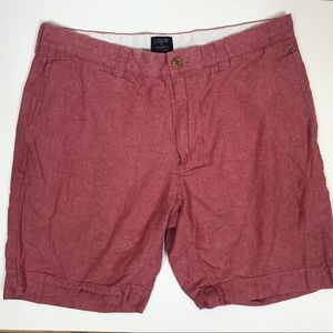 J. CREW GRAMERCY MENS 32W RED SHORTS